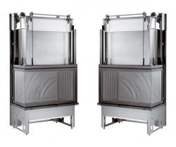 vitre et verre prismatique pli e pour insert de chemin e. Black Bedroom Furniture Sets. Home Design Ideas