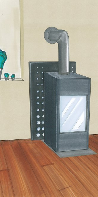 protection murale pour po le bois. Black Bedroom Furniture Sets. Home Design Ideas